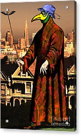 Blue Bonnet Plague Doctor Of San Francisco Alamo Square 20140306 Acrylic Print by Wingsdomain Art and Photography