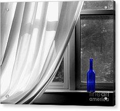 Blue Bottle Acrylic Print by Diane Diederich