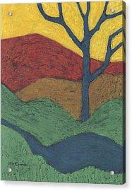 Blue Branches Acrylic Print