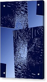 Blue Breaking Acrylic Print by Mario Perez