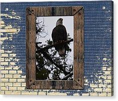 Blue Brick Acrylic Print by Greg Patzer