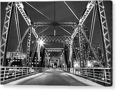 Blue Bridge In Black And White Acrylic Print by Twenty Two North Photography