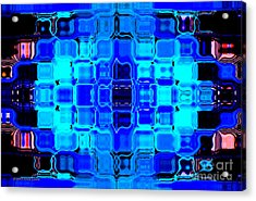 Blue Bubble Glass Acrylic Print by Anita Lewis