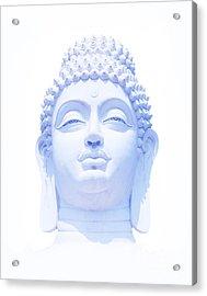 Blue Buddha Acrylic Print by Tim Gainey