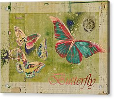 Blue Butterfly Etc - S55ct01 Acrylic Print by Variance Collections