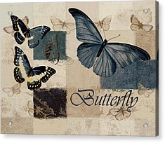 Blue Butterfly - J118118115-01a Acrylic Print by Variance Collections