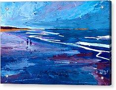 Blue Californian Seascape In Big Sur Acrylic Print by M Bleichner