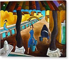 Blue Canal  Acrylic Print