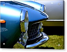 Acrylic Print featuring the photograph Blue Car by Dean Ferreira