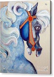 Blue Carousel Acrylic Print