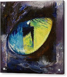 Blue Cat Eye Acrylic Print by Michael Creese