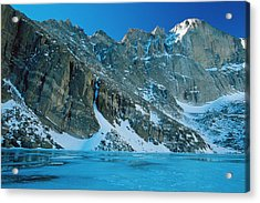 Blue Chasm Acrylic Print by Eric Glaser