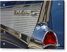 Acrylic Print featuring the photograph Blue Chevy Bel Air by Patrice Zinck