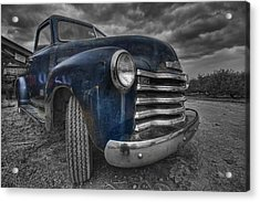 Blue Chevy Acrylic Print by Mike Horvath
