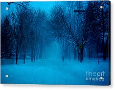 Blue Chicago Blizzard  Acrylic Print