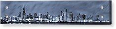 Blue Chicago Skyline Acrylic Print