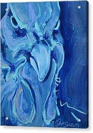 Blue Chicken Acrylic Print