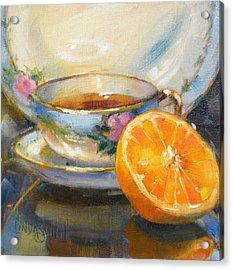 Blue China And Orange Acrylic Print