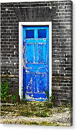 Blue Chipped Acrylic Print