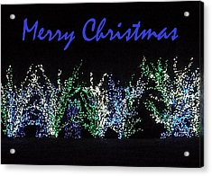 Acrylic Print featuring the photograph Blue Christmas by Darren Robinson
