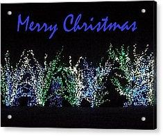 Blue Christmas Acrylic Print by Darren Robinson