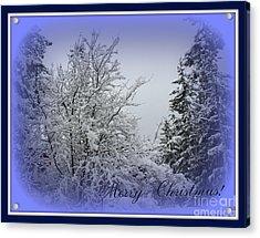 Blue Christmas Acrylic Print by Leone Lund