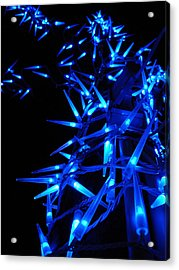 Blue Christmas Tree Acrylic Print by Michel Mata