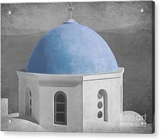 Blue Church Dome Acrylic Print by Sophie Vigneault