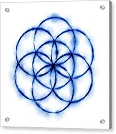 Blue Circle Abstract Acrylic Print