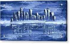 Blue City Acrylic Print by Svetlana Sewell