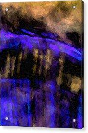 Blue Cliff Acrylic Print