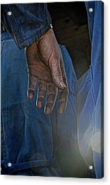 Blue Collar Acrylic Print by Odd Jeppesen
