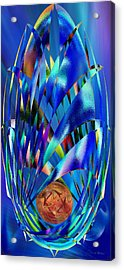 Blue Cosmic Egg - Abstract Acrylic Print