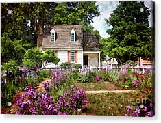 Blue Cottage Acrylic Print