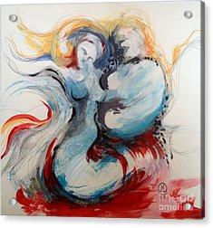 Blue Couple Acrylic Print