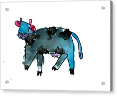 Blue Cow Acrylic Print