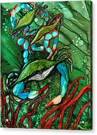 Blue Crab Ballet Acrylic Print