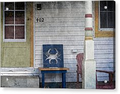 Blue Crab Chair Acrylic Print