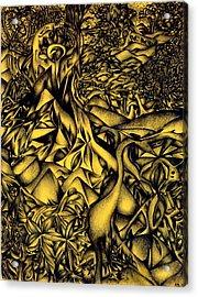 Blue Cranes Acrylic Print by Zachary Worth