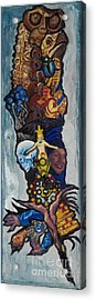 Blue Crow Feather- Crow Series Acrylic Print