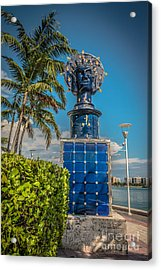 Blue Crown Statue Miami Downtown Acrylic Print