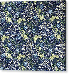 Blue Daisies Design Acrylic Print