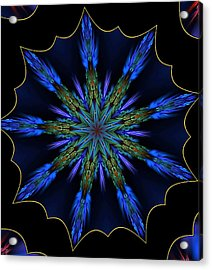 Blue Danube Kaleidoscope Acrylic Print