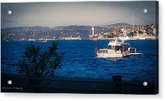 Blue Dawn On The Bosphorus Acrylic Print