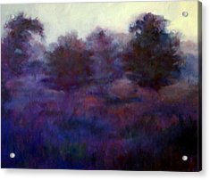 Acrylic Print featuring the painting Blue Dawn by Rosemarie Hakim