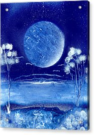 Blue Desert Night Acrylic Print by Marc Chambers
