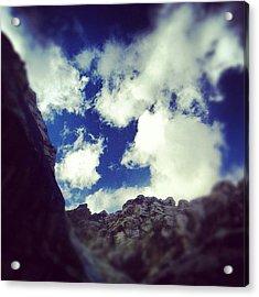 Blue Desert Sky Acrylic Print by Edward Pollick