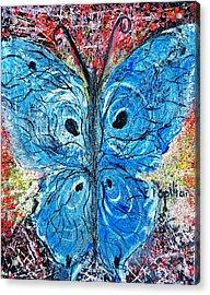 Blue Design Acrylic Print
