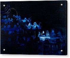 Blue Dining Room Acrylic Print