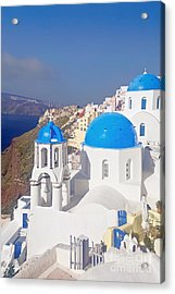 Blue Dome  Acrylic Print by Aiolos Greek Collections